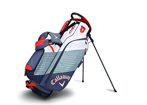 Golf Stand Carry Bag (Callaway Golf Chev Stand Bag Stand / Carry Golf Bag 2017 Chev Titanium/White/Orange)