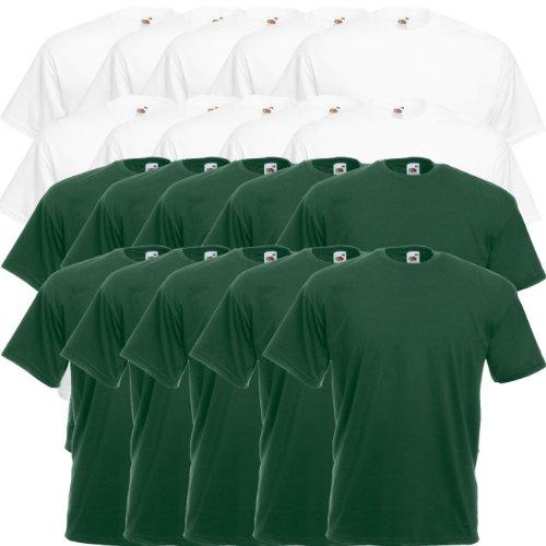 Bottle Rotondo Green Pz Confezione 10er Collo nbsp;5er Loom Valueweight shirt 10x Da White 15er Fruit F140 The Of T T RUqwYHx