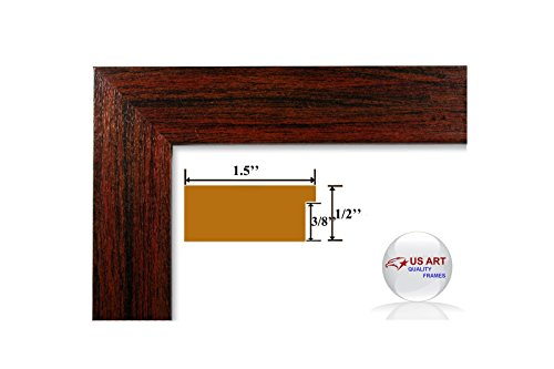 US Art 13x19 Custom Cherry Maroon Picture Poster Photo FRAME Wood Composite 1.5 inch WIDE MOULDING