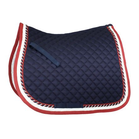 Nylon All Purpose Saddle - Horze Toulouse All Purpose Saddle Pad - Size:Full Color:Dark Blue/Chili Pepper