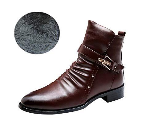 Herren Chelsea Stiefel, Ankle Stiefel, Chelsea Winter Warm Leder Executive Zip Stiefel Komfortable High Top Ankle Schuhe Work Cowboy Biker Stiefel Schuhe 17df16
