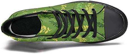 TIZORAX DEYYA scarpe da ginnastica alte per gli uomini lasciare rami stampa moda pizzo scarpe di tela casual camminare scarpe