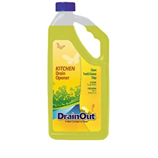 Drain OUT Kitchen Drain Opener and Drain Cleaner, Food and Grease Remover, Fresh Citrus - 32 Ounce