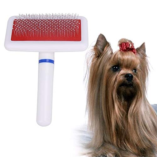 (Viking* Pet Dog Comb Dog Brush Long Hair Brush Plastic Handle Puppy Cat Dog Massage Bath Brush Multifunction Pet Grooming Tool)