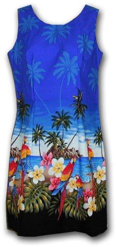 Hawaiian Sun Dresses Beach Parrot Dress Blue