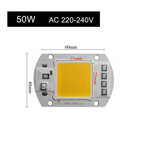 HITSAN IP65 LED COB Chip Real Power 20w 30w 50w LED Replace Chip Integrated Smart IC Driver Fit for DIY Floodlight Projector Lampada
