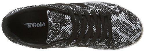 Fashion US Reptile Schwarz Weiß Damen Gola Equipe Weiß Schwarz 5 Schwarz M Sneaker wtf4zF
