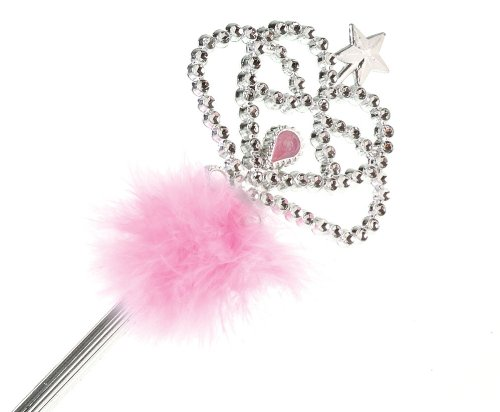 (U.S. Toy Princess Wand with Pink Feathers and Star)