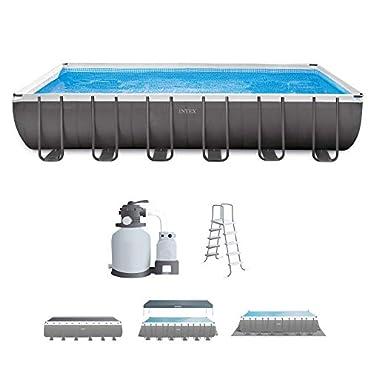 "Intex 26363EH 24' x 12' x 52"" Ultra Frame Swimming Pool Set"