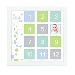 Tiny Ideas First Year Photo Wall Frame, Blue