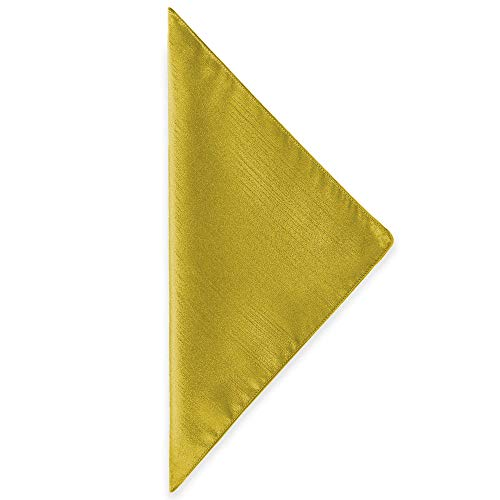 Ultimate Textile -10 Dozen- Reversible Shantung Satin - Majestic 10 x 10-Inch Cloth Cocktail Napkins - for Weddings, Home Parties and Special Event use, Gold