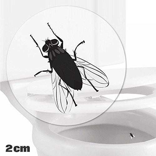 Toilettenhilfe für Kinder Säuglinge Jungs Lustige Badezimmer Bad Töpfchen Pinkelhilfe 10 x Fliege Zielhilfe Aufkleber (2 cm)