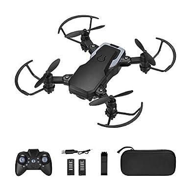 Powerextra Mini Drone con Cámara 3 x Baterías para Principiantes - Mini Drone Plegable con Control Remoto HD WiFi Cámara FPV 2.4 GHz Flips 3D y Función de Giro con Bolsa de Almacenamiento a buen precio