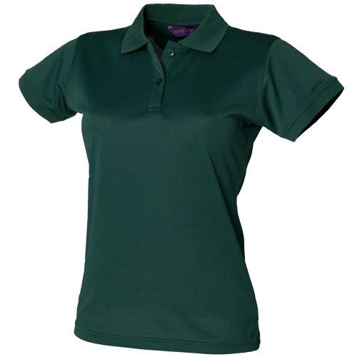 Henbury - Polo Con Sistema Coolplus® - Donna (XL) (Rosso)