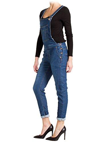 taille normale Jeans extensible Jeans Bleu taille denim normale tissu femme 776 Lavage pour salopette Fonc style 706 Carrera qvz5nPxP