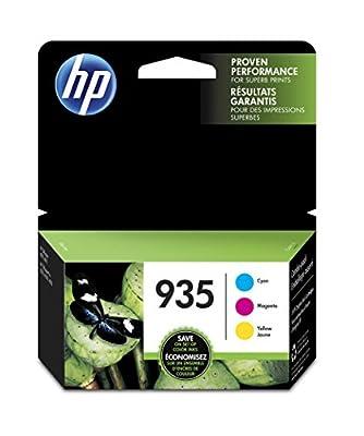 HP 935 Cyan, Magenta & Yellow Original Ink Cartridges, 3 pack, (N9H65FN)