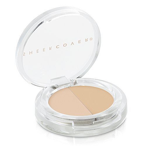 Sheer Natural Cover Minerals Makeup (Sheer Cover – Concealer Duo – Two-Toned Concealer – with FREE Concealer Brush (1.5 Grams, Light/Medium) – 30 Day Supply)