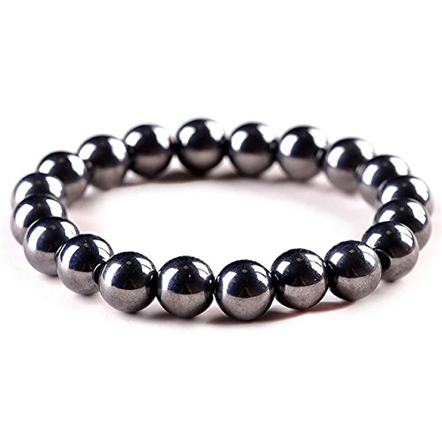 Elegant Titanium Magnetic Therapy Bracelet Stretch Stone Beaded Pain Relief for Arthritis and Carpal Tunnel