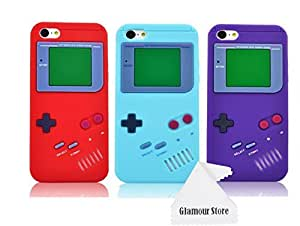 iPhone 6 Case,Retro 3D Game Boy Gameboy Design Style Soft Silicone Cover Case For New Apple iPhone 6 6G 4.7 inch-Pack(¡Á3)Red.Light Blue,Purple,Not Fit For Apple iPhone 6 Plus 5.5 inch+ Free Cleaning Cloth As a gift wangjiang maoyi