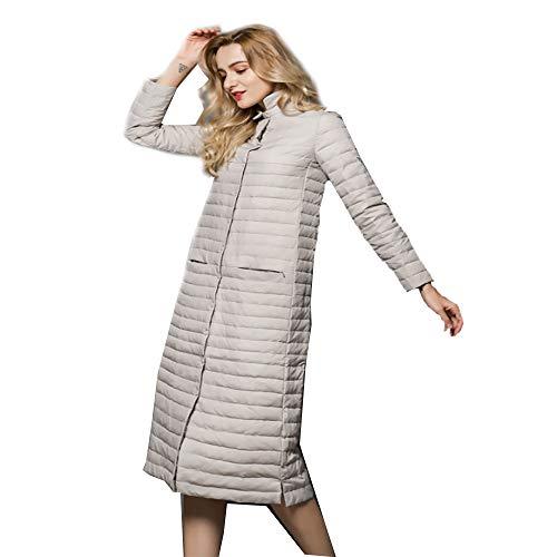 da1584967726f Solide Portables Léger En Pour Duvet Veste Femmes Long Manteau gray xl  Femmes D'hiver Ultra Gray Mince Parkas ...
