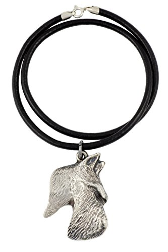Scottish Terrier (Long Muzzle), Silver Hallmark 925, Dog Silver Necklaces, Limited Edition, Artdog by Art Dog Ltd.