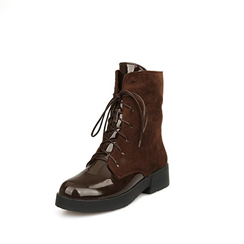 Brown Patent Leather Boots - 2