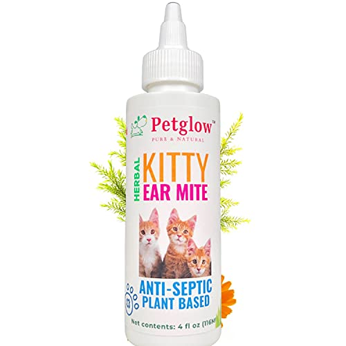 Petglow All Natural Ear Mites, Ringworm Treatment for Cats
