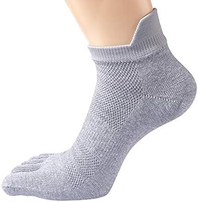 Hombres Cinco dedos calcetines de algodón se divierte los calcetines del dedo del pie cinco calcetines