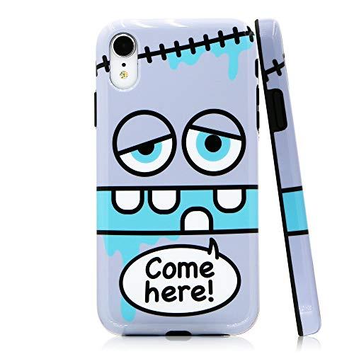 Lartin Cute Cartoon Soft Flexible Jellybean Gel TPU Case for iPhone XR - Come - Bean Case Silicone