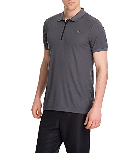 Trailside Supply Co. Men's Quick Dry Polo Shirts Grey L