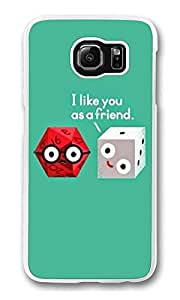 Freindzoned Dice Custom Samsung S6 Case Cover Polycarbonate white