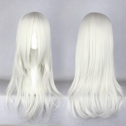 Price comparison product image Cosplay wig Amine 65cm Medium Final Fantasy Sephiroth Silvery White Costume