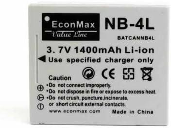 1x NB-4L Batería para Canon IXY Digital 400F