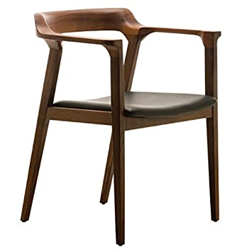 Superbe Nuevo Caitlan Leather Dining Arm Chair In Black And Tan