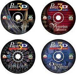 Puzz 3D CD Value Set - Neuschwanstein Bavarian Castle, Orient Express, Victorian Mansion and Notre Dame Cathedral