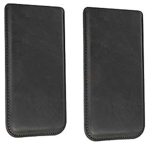 Funda para Swisstone BBM 610Funda Piel Carcasa Sleeve Funda Case Piel Smartphone Móvil Cover Funda Cartera Funda de piel en negro