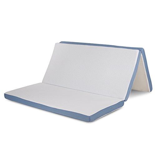 Mat Queen (Memory Foam Folding Mattress Topper and Sofa Bed for Guests or Floor Mat, Queen 60 x 80