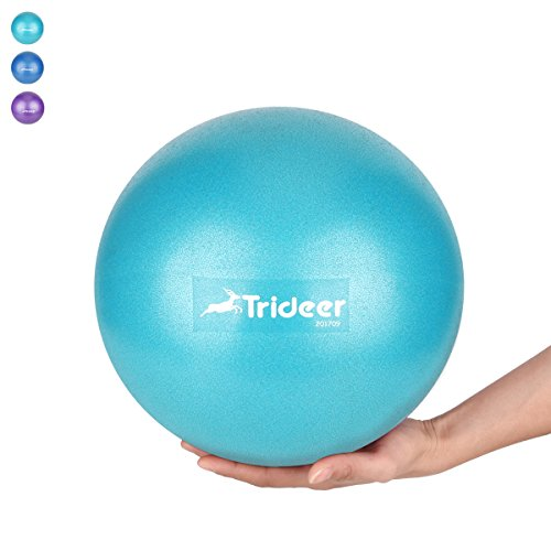 Trideer Pilates Ball, Barre Ball, Mini Exercise Ball, 9 Inch Small Bender Ball, Pilates, Yoga, Core Training and Physical Therapy, Improves Balance, Core Strength & Posture (Turkis (23cm)) Over Ball