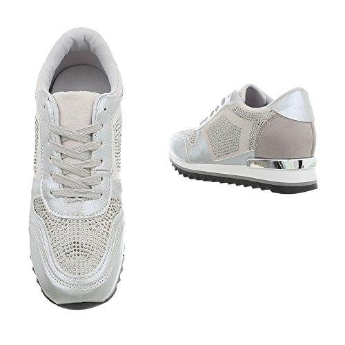 High Zeppa Design G Ital Sneaker Argento Sneakers 125 Scarpe Donna da xOBxdXq0