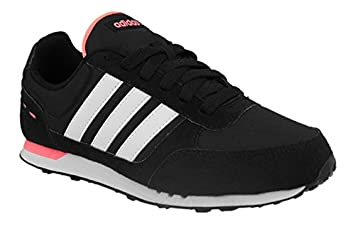 half off 53960 a295b Image Unavailable. Image not available for. Colour adidas Girls City Racer  Trainers-BlackWhitePink ...