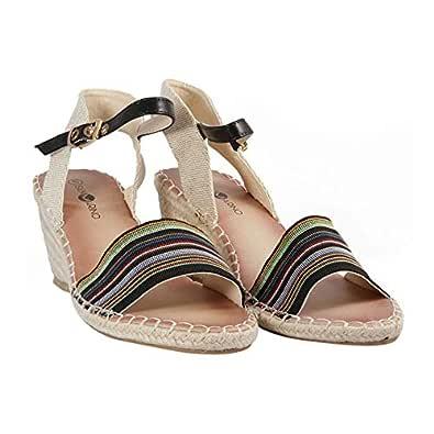 San Marino Black Active Sandal For Women