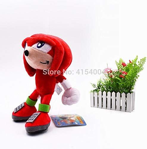 50 Stuks / partij Groothandel Peluche Speelgoed Sonic Zachte Pluche Pop Rode Sonic Cartoon Dier Gevulde Pluche Speelgoed Figuur Poppen Geschenken 20 cm
