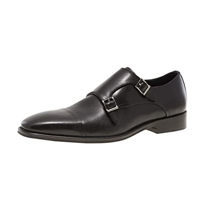 JUMP NEWYORK Men's Mario Double Monk Strap Cap Toe Dress Shoe | Oxfords
