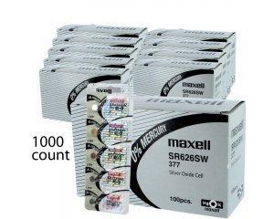 1000 pcs Maxell SR626SW SG4 SR66 377 Silver Oxide Watch Battery