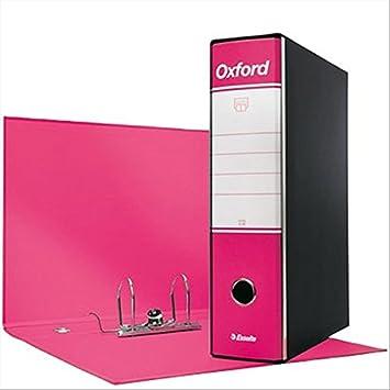 Esselte 390783900, archivador Oxford, formato comercial, cartón, lomo 8 cm para archivador, Unidades de 6pz, fucsia: Amazon.es: Oficina y papelería