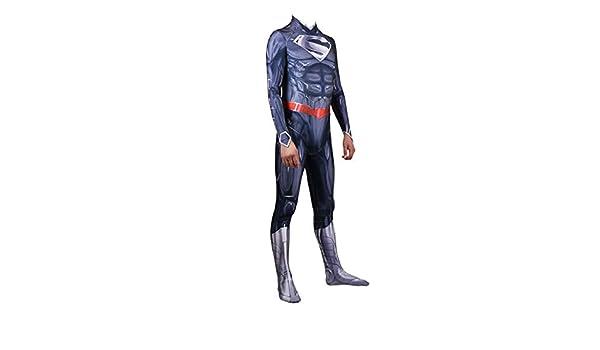 XINFUKL Traje De Musculoso Azul De Superman Medias De Cosplay ...