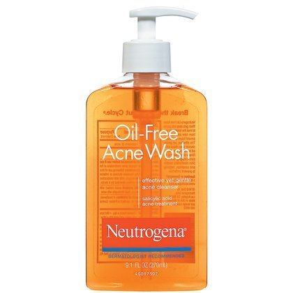 Neutrogena Oil-Free Acne Wash-9.1 oz (Quantity of 4)