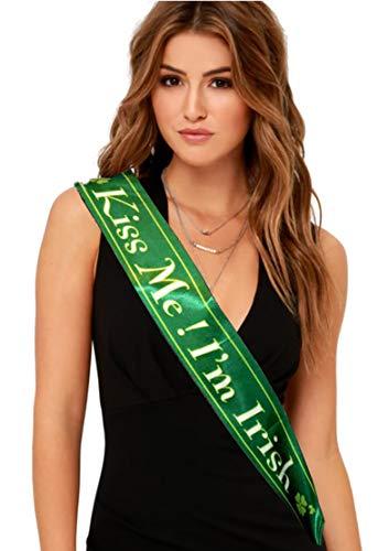 St. Patrick's Day Kiss Me I'm Irish Dress Up Costume Satin Green ()