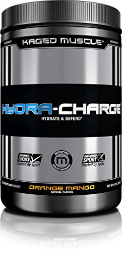 Muscle Volumizer Cell (KAGED MUSCLE, HYDRA CHARGE Premium Electrolyte Powder, Hydrate, Pre Workout, Post Workout, Intra Workout, Orange Mango, 60 Servings)