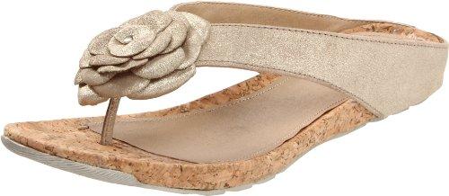 Kenneth Cole REACTION Women's Flower Park Thong Sandal,Light Gold,9 M US